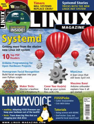 Linux Magazine #214: September 2018