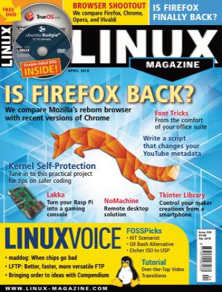 Linux Magazine #209: April 2018