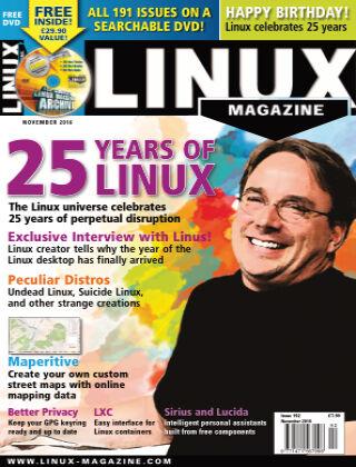 Linux Magazine #192: November 2016