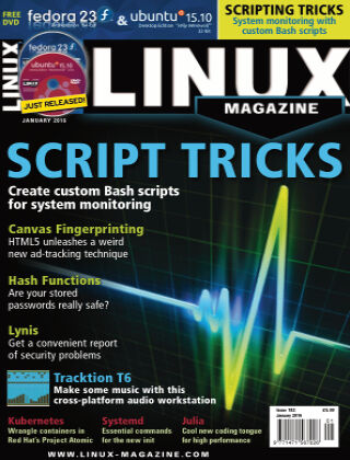 Linux Magazine #182: January 2016