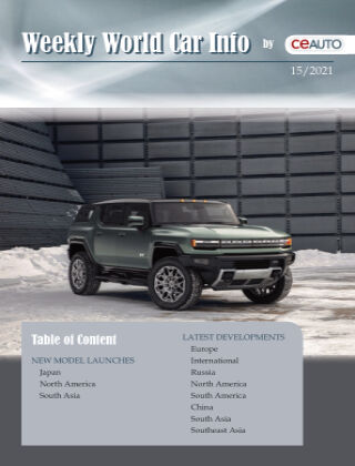 Weekly World Car Info 2021/15
