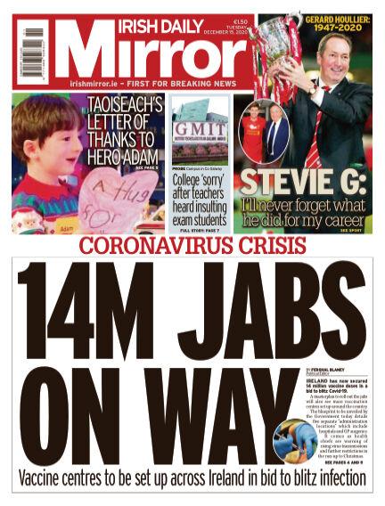 Irish Daily Mirror December 15, 2020 00:00