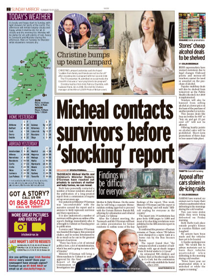 Irish Sunday Mirror January 10, 2021 00:00