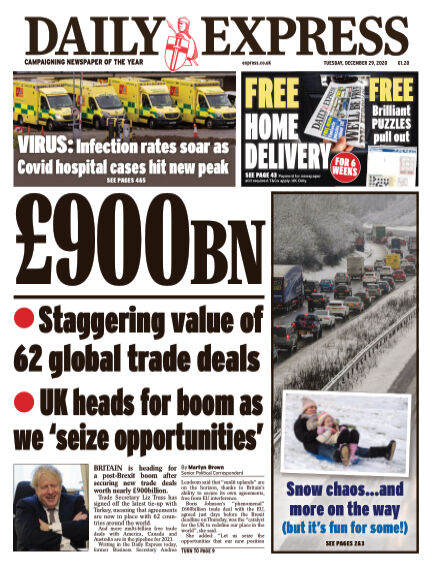 Daily Express (Irish) December 29, 2020 00:00