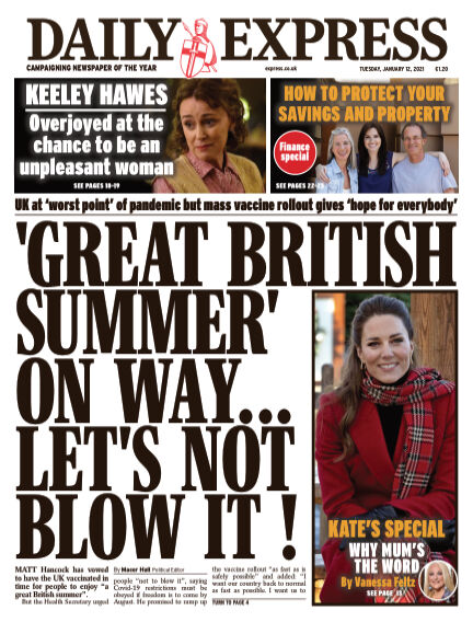Daily Express (Irish) January 12, 2021 00:00