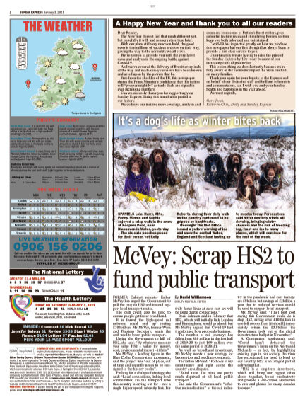 Sunday Express (Irish) January 03, 2021 00:00
